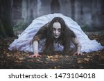 Creepy Dead Bride Crawling Fro...