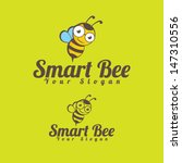 Smart Bee Icon Illustration...