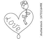 vector heart shape frame with... | Shutterstock .eps vector #1473116498