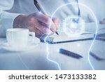 brain multi exposure icon with... | Shutterstock . vector #1473133382