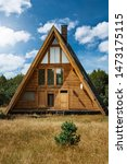 Triangle shape wooden building...