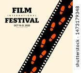 movie and film festival poster...   Shutterstock .eps vector #1473179348