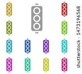 traffic light multi color icon. ...