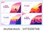 climber climbs the mountain... | Shutterstock .eps vector #1473200768