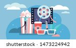 movies vector illustration.... | Shutterstock .eps vector #1473224942