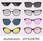 sunglasses set  summer eyewear... | Shutterstock .eps vector #1473228785
