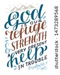 Hand Lettering God Is Our...