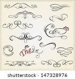 vector set  calligraphic design ... | Shutterstock .eps vector #147328976