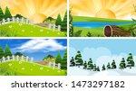a set of outdoor scene... | Shutterstock .eps vector #1473297182