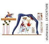 Ancient Egypt Legend Cartoon...