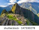 Stock photo machu picchu peru southa america a unesco world heritage site 147330278