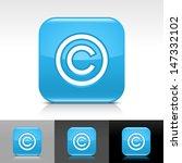 copyright icon. blue color...