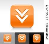 download arrow icon. orange...