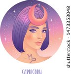 Illustration Of Capricorn...