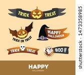 happy halloween icon symbol... | Shutterstock .eps vector #1473358985