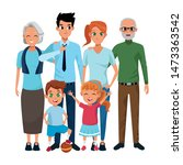 family parents and grandparents ... | Shutterstock .eps vector #1473363542