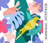 abstract tropical garden....   Shutterstock .eps vector #1473376118