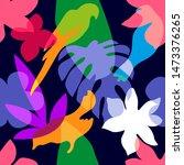 abstract tropical garden....   Shutterstock .eps vector #1473376265