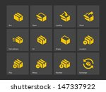 box icons on gray background....