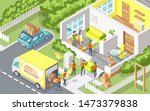 cargo delivery company people...   Shutterstock . vector #1473379838