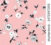 beautiful floral seamless... | Shutterstock .eps vector #1473397355