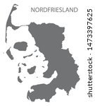 nordfriesland grey county map... | Shutterstock .eps vector #1473397625