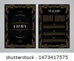 vintage invitation in art deco. ... | Shutterstock .eps vector #1473417575