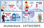 house sitting service cartoon...   Shutterstock .eps vector #1473425855