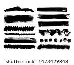 abstract painted ink strokes ...   Shutterstock . vector #1473429848
