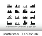 set of factory or manufacturing ... | Shutterstock .eps vector #1473454802