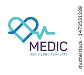 medic  logo template. heart...   Shutterstock .eps vector #1473531338