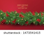 merry christmas and happy new... | Shutterstock .eps vector #1473541415