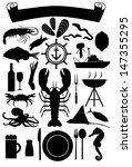 Silhouette Of Nautical Icons...