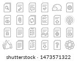 document management line icons. ... | Shutterstock .eps vector #1473571322