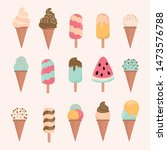 ice cream cone and bar. pastel... | Shutterstock .eps vector #1473576788