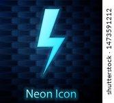glowing neon lightning bolt... | Shutterstock . vector #1473591212
