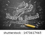 back to school banner  doodle... | Shutterstock .eps vector #1473617465