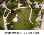 Aerial View On Champs De Mars...