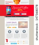 homepage web design with slides ... | Shutterstock .eps vector #147368078