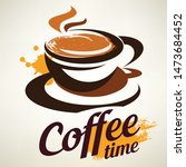 coffee cup stylized emblem... | Shutterstock .eps vector #1473684452