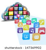 cloud computing with many... | Shutterstock .eps vector #147369902