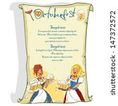 oktoberfest poster with space... | Shutterstock .eps vector #147372572
