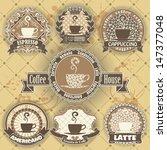 set of coffee symbol | Shutterstock .eps vector #147377048