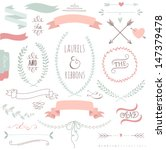 wedding graphic set  arrows ... | Shutterstock .eps vector #147379478