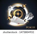 casino roulette wheel isolated... | Shutterstock .eps vector #1473804932