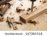 close up  of a carpenter... | Shutterstock . vector #147381518