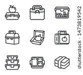 plastic fruit pack icon set.... | Shutterstock .eps vector #1473819542