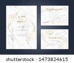 luxury marble wedding...   Shutterstock .eps vector #1473824615