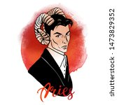 aries zodiac signs us man... | Shutterstock .eps vector #1473829352
