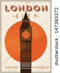 Vintage Big Ben Poster  London...